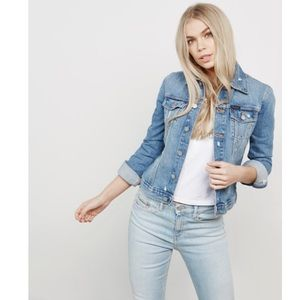 Calvin Klein Womens Blue Trucker Denim Jacket